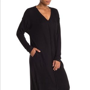 Donna Karan V-Neck Knit Sleep Caftan
